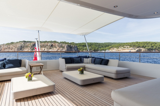 Motor Yacht Go Feadship for charter - bridge deck seating