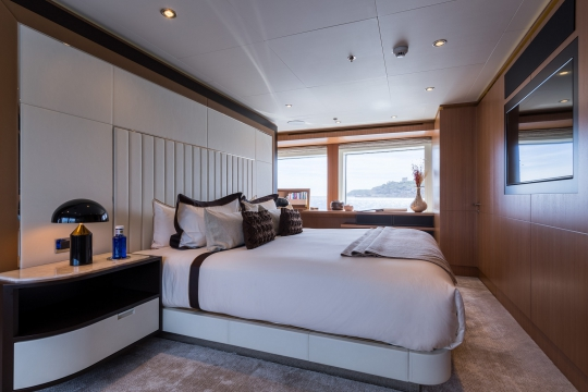 Motor Yacht Go Feadship for charter - master cabin