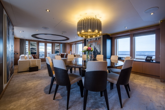 Motor Yacht Go Feadship for charter - dining room