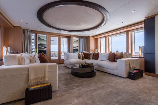 Motor Yacht Go Feadship for charter - main lounge
