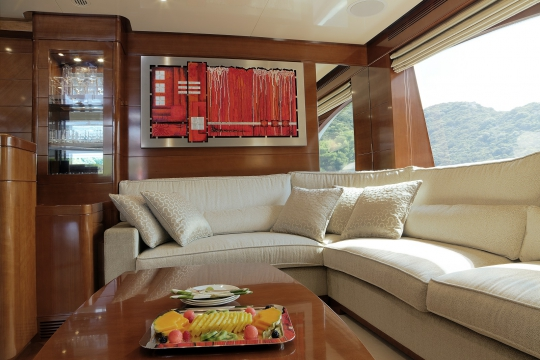 Motor Yacht Harmony III Benetti for charter - bridge deck bar