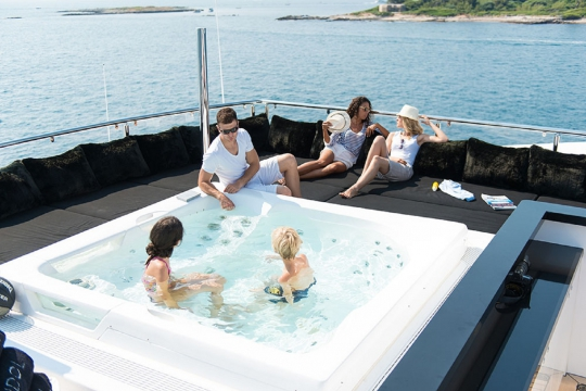 Motor Yacht Idol for charter - sundeck jacuzzi