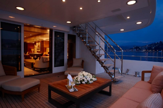 Motor Yacht Kathleen Anne Feadship for charter - main deck aft