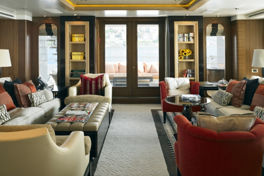 Motor Yacht Kathleen Anne Feadship for charter - main saloon